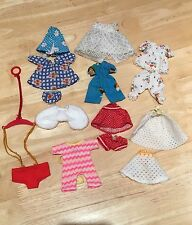 Vintage 1970s Original Carrie Doll Clothes And Baby Bouncer