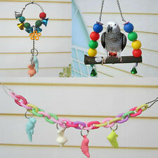 Swing Elevated Supplies Chew Bars Toys 2016 Teeth  Parrot Birds Ladder Minerals