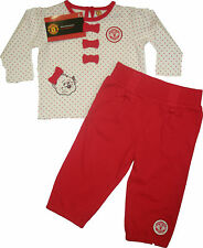 MANCHESTER UNITED, MAN UTD FC BABY GIRLS TOP/TROUSER  OFFICIAL LICENSED PRODUCT