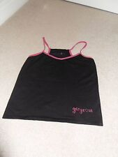 Black/pink Breast Cancer care charity vest/workout top