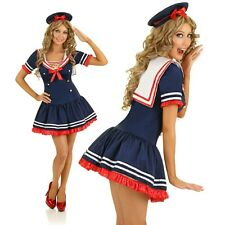 Adult 50s Rockabilly Clothing Sailor Costume Navy Pin Up Fancy Dress 1950 Outfit