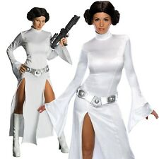 Womens Sexy Princess Leia Costume Star Wars Fancy Dress Party Outfit & Wig