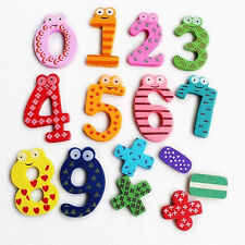 New Cute Animal Style Number &Alphabet Wooden Fridge Magnet Educational Kids Toy