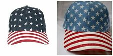 American Flag Baseball Cap Stars and Stripes D&Y Cotton Patriotic 4th of July