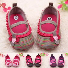 Toddler Infant Baby Girl Flower Shoes Crib Shoes Size Newborn to 18 Months RT[