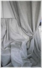 Made to Measure Curtains 100% Irish Linen Grey /Oatmeal Interlined Eyelet Option
