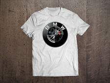 BMW T-Shirt Graphic Fruit Of The Loom Tee Shirt Men White Fan Gift Size S-2XL