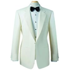 Brook Taverner 1 Button Notch Lapel Single Breasted White Tuxedo