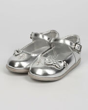 New Girl aadi Emma-884 Metallic Leatherette Bow Tie Mary Jane Flat