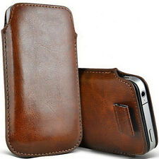 Leather Pouch Cover Case for Apple Iphone 4/4S/5/5G/5S/5C- Brown or Black