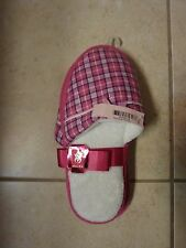 VICTORIAS SECRET VS BLING PINK FAUX FUR SLIPPERS NWT