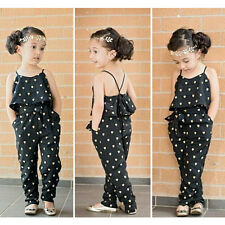 Kids Girls Toddler Jumpsuit Clothes Sleeveless One-piece Romper Playsuit Outfits