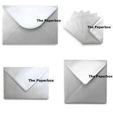 Silver Metallic Pearlescent Envelopes - choice of size & quantity