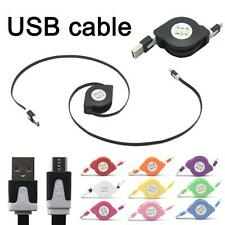 Retractable Noodles Micro USB Data Sync Charger Charging Cable Lead For Samsung