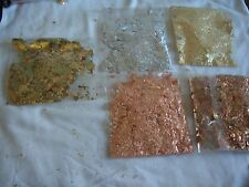 Gilding Flakes -copper, silver,gold, green gold & red gold. .5 packs. FREE p&p