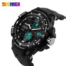 Analog-Digital Watch Rubber Sport Quartz Men LED Waterproof Military Army P1N5