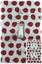 Lady Bugs Single Toggle Decorative Light Switch Cover Outlet Switch Wall Plate