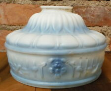 """Vintage Lamp Shade Antique Art Deco Blue Frosted Glass Light Globe 2.25"""" Fitter"""