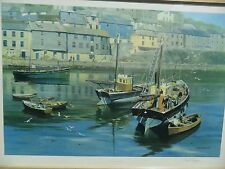 David Shepherd signed ''The Harbour Mevagissey'' signed in pencil