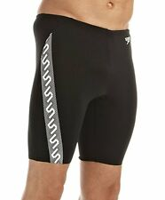 Speedo Mens Black White Monogram Jammer Swimming Shorts