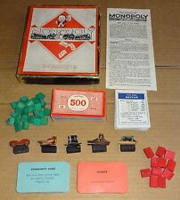 SELECTION OF VINTAGE 1940s MONOPOLY BOARD GAME SPARES; MONEY, CARDS, DEEDS ETC