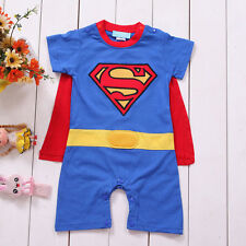 Hero Superman Baby Boy Short Sleeved Bodysuit Jumpsuit Romper Onesie