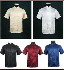Chinese Traditional Style Men's Summer Casual Kung Fu Shirt Tops M L XL XXL XXXL