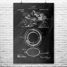 Life Preserver Buoy Ring Poster Patent Print Lifeguard Swimmer Swimming Pool