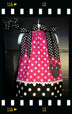 Custom Minnie Mouse Applique DRESS NAME 6M 12M 24M 2T 3T 4 5 6 8 Hot Pink polka