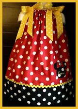Custom Minnie Mouse Applique DRESS Personalized 6M 24M 2T 3T 4 5 6 Red Polka dot