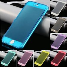 Clear Transparent Soft TPU Silicone Flip Case Cover for Apple iPhone 6 6S 4.7""