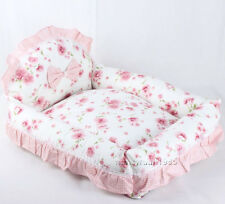 New 100% Cotton Handmade Princess Pet Dog Cat Sofa Bed Removable Cover Mat House