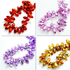 Hot  25PCS #6010 Teardrop Crystal glass Loose spacer BEADS 12x6mm