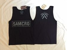 Men S Small SAMCRO Black TANK TOP Shirt SONS OF ANARCHY Motorcycle Club Redwood