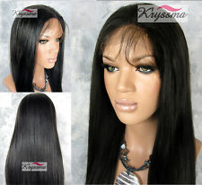 Silk Top Human Hair Lace Front Wigs Yaki Hair Glueless Brazilian Remy Hair Wig