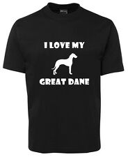 I love my Great Dane (Female Dane) SG, dog lovers, dog lover, great dane, clo...