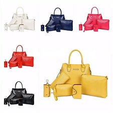 New Women Purse Handbag Vintage Shoulder Key Bag Tote Satchel Wallet 6PCS/Set