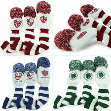 New 3pcs Golf knit Headcover For Taylormade Callaway Ping Driver Fairway Wood