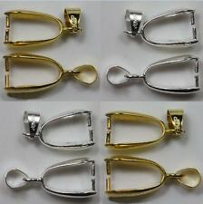 Wholesale 20PCS Mixed & Silver/Gold Plated Pendant Pinch Clip Bail Connector