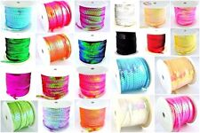 5 Metres of Quality Strung Metallic Flat Sequins - 20+ Colours- 6mm - lady-muck1