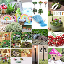 Mini Bridge Rainbow Clouds Trees Sand DIY Garden Decor Pot Fairy Garden Ornament