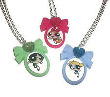 Powerpuff Girls Necklace, Cute Cameo Necklace, Bubbles Blossom Buttercup Kitch