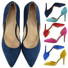 Womens New High Heels Classic Smart Work Party Evening Pointed Toe Party Shoes