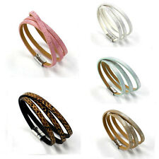 NEW Fashion Women Infinity Leather Cute Charm Bracelet plated Silver DIY