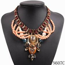 new design fashion rope chain gold plated bead bib chunky statement necklace