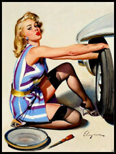 Pin Up Girl FRIDGE MAGNET 6x8 Sexy Magnetic CANVAS Poster Print