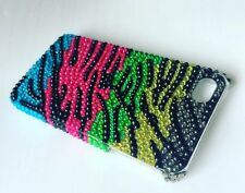 Zebra Bling Glitzy Crystal Bow Tie iPhone 5, 5S. SE Hard Plastic Snap On Case
