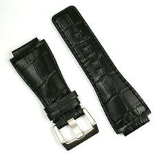 Black 'Gator Leather Watch Band fits Bell & Ross BR01 BR03