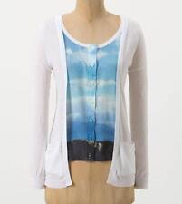 Anthropologie NWT New Finestra Cardigan Sweater by Moth Size M L White Blue