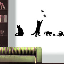 Cat Play Living Room Decor Removable Decal Vinyl Mural PVC Art Wall Sticker